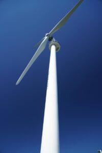 A wind turbine in Canada