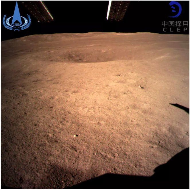 Chang'e 4's first photo of the Dark Side of the moon