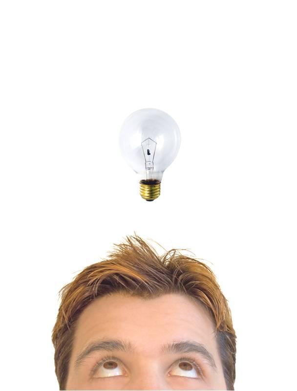 Man with innovative idea