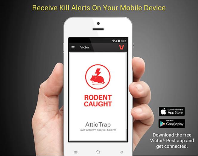 Victor digital moustrap mobile app