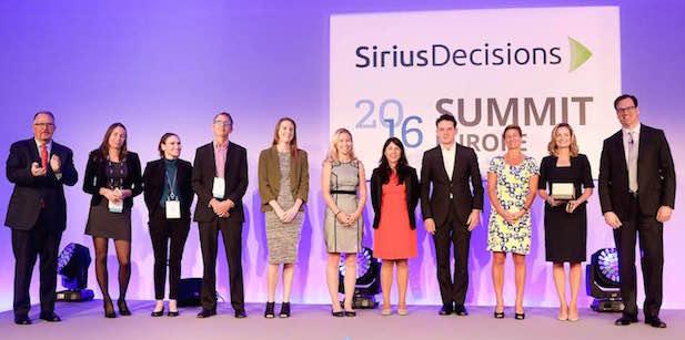 Iron Mountain Award Winning Team at SiriusDecisions 2016 Summit Europe