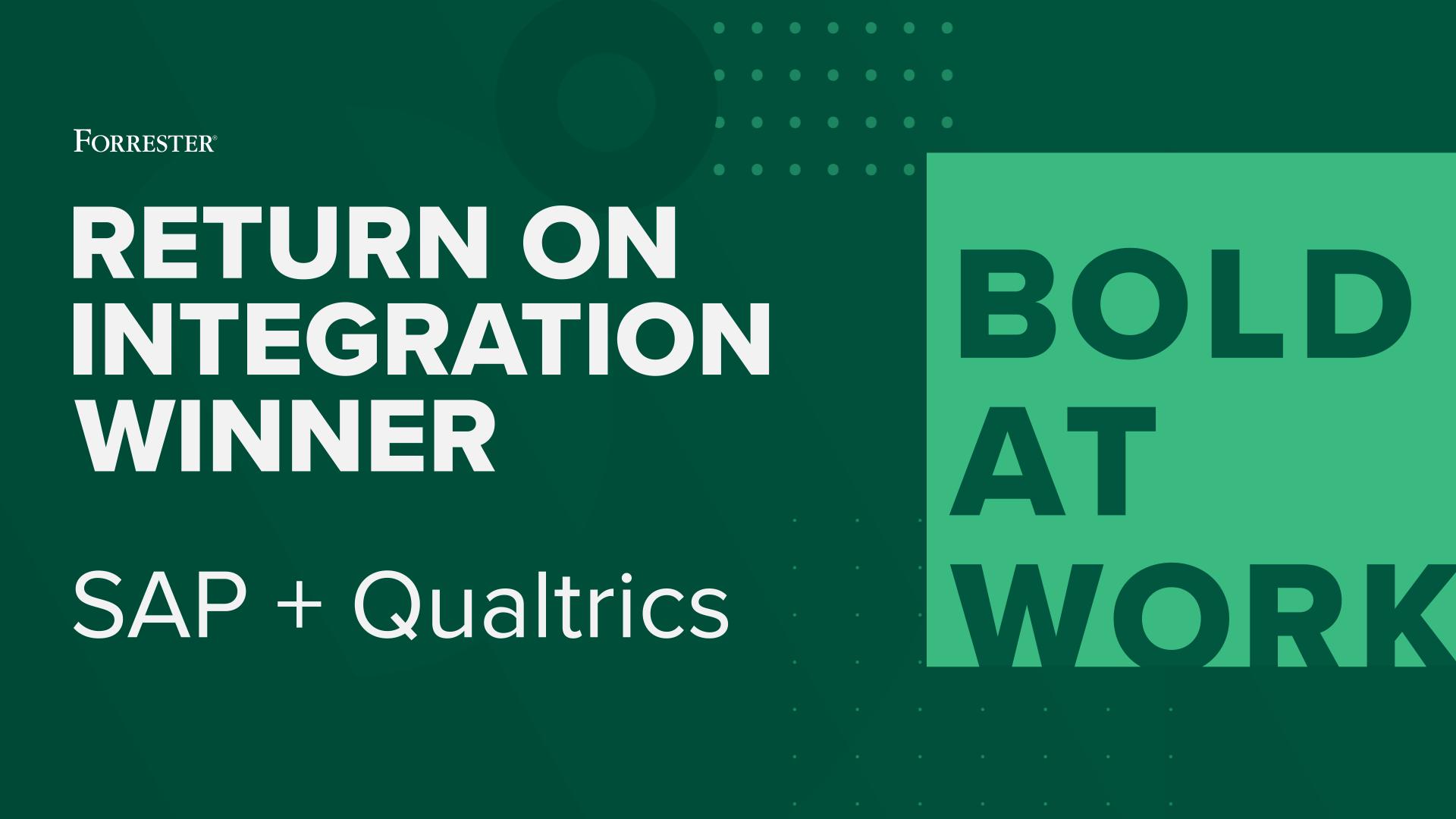 ROI Award Winner SAP + Qualtrics