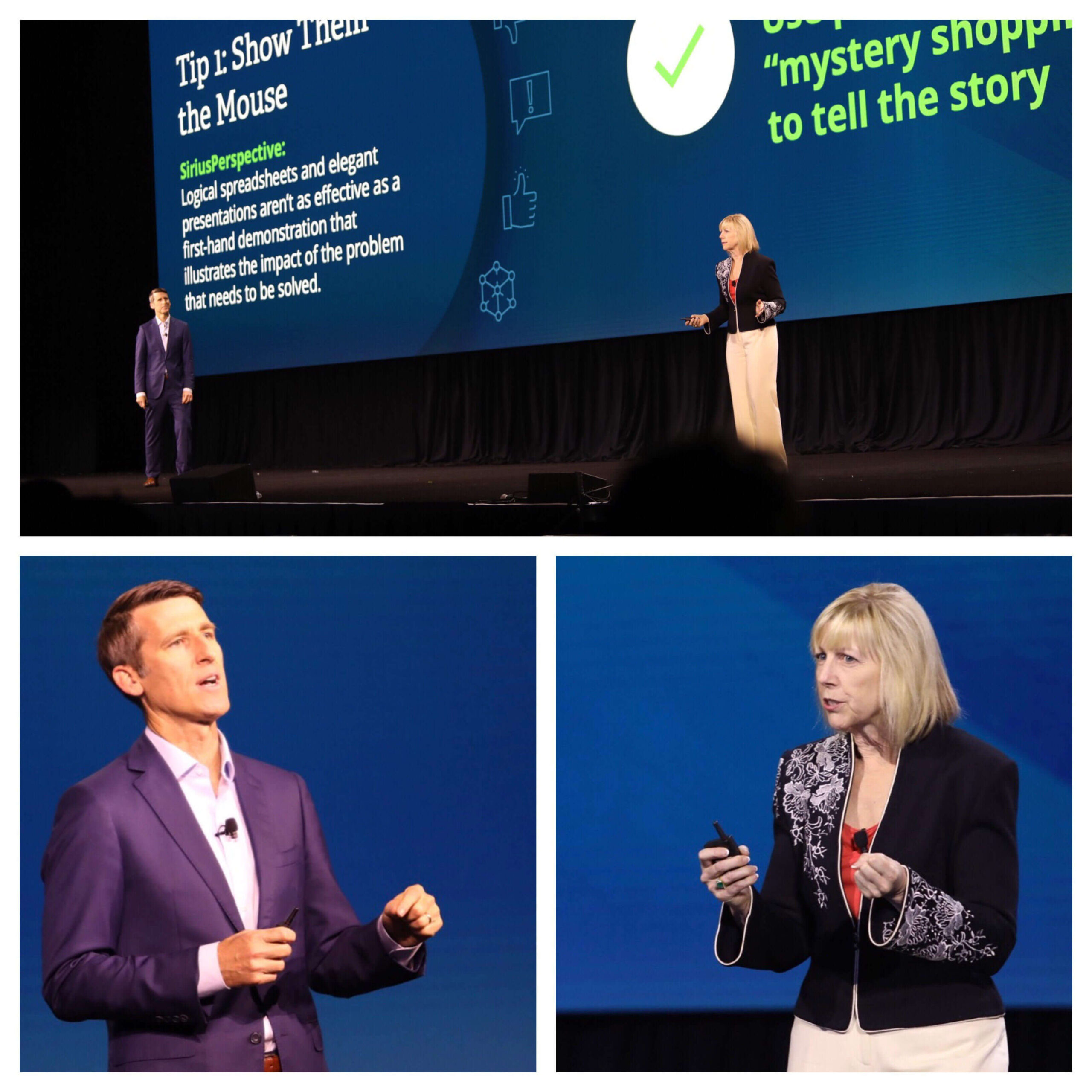 phil harrell and monica behncke on stage at Summit 2019