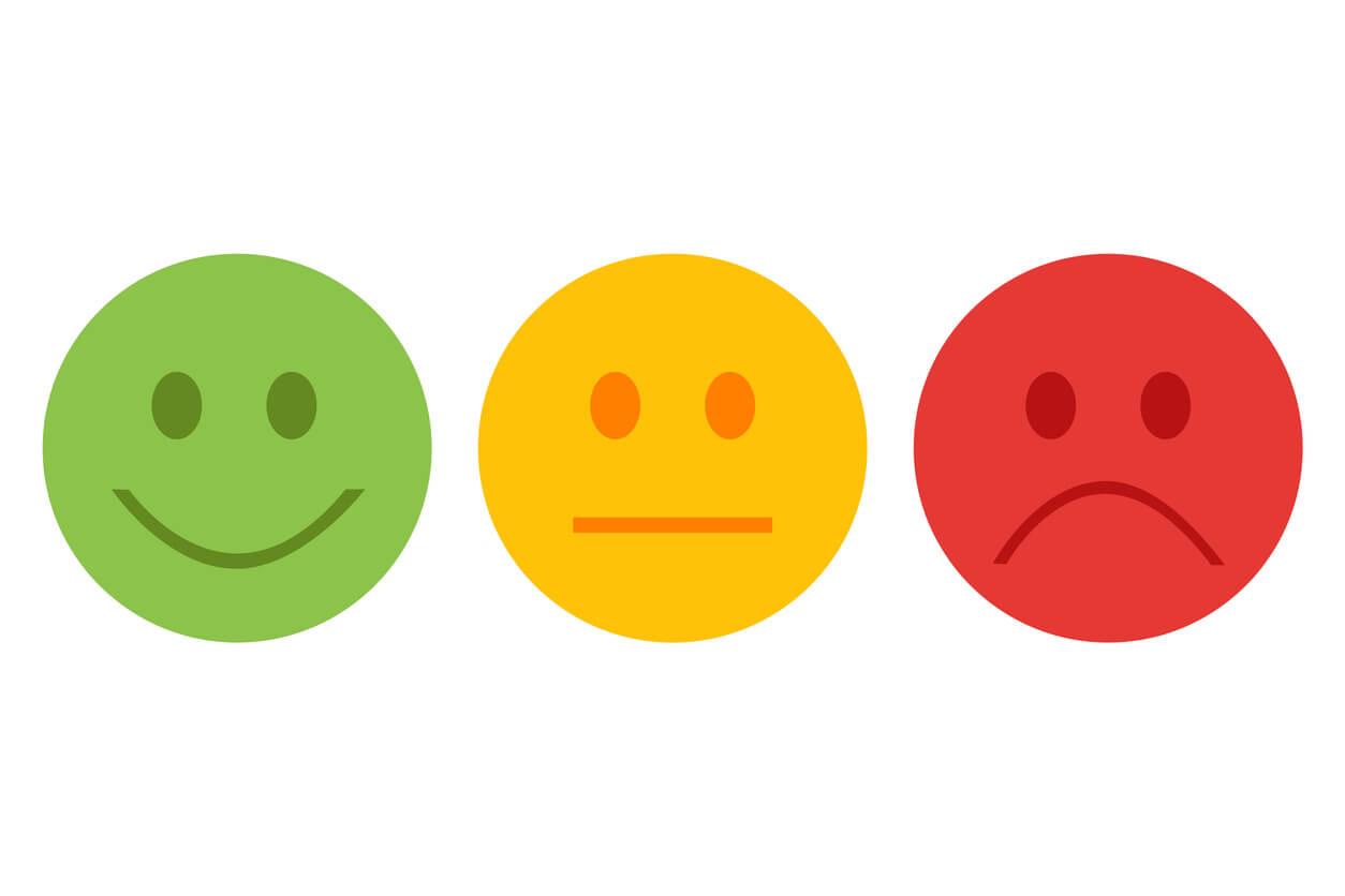 Feedback smiley icon set