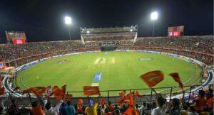 Fans celebrate a T-20 cricket match