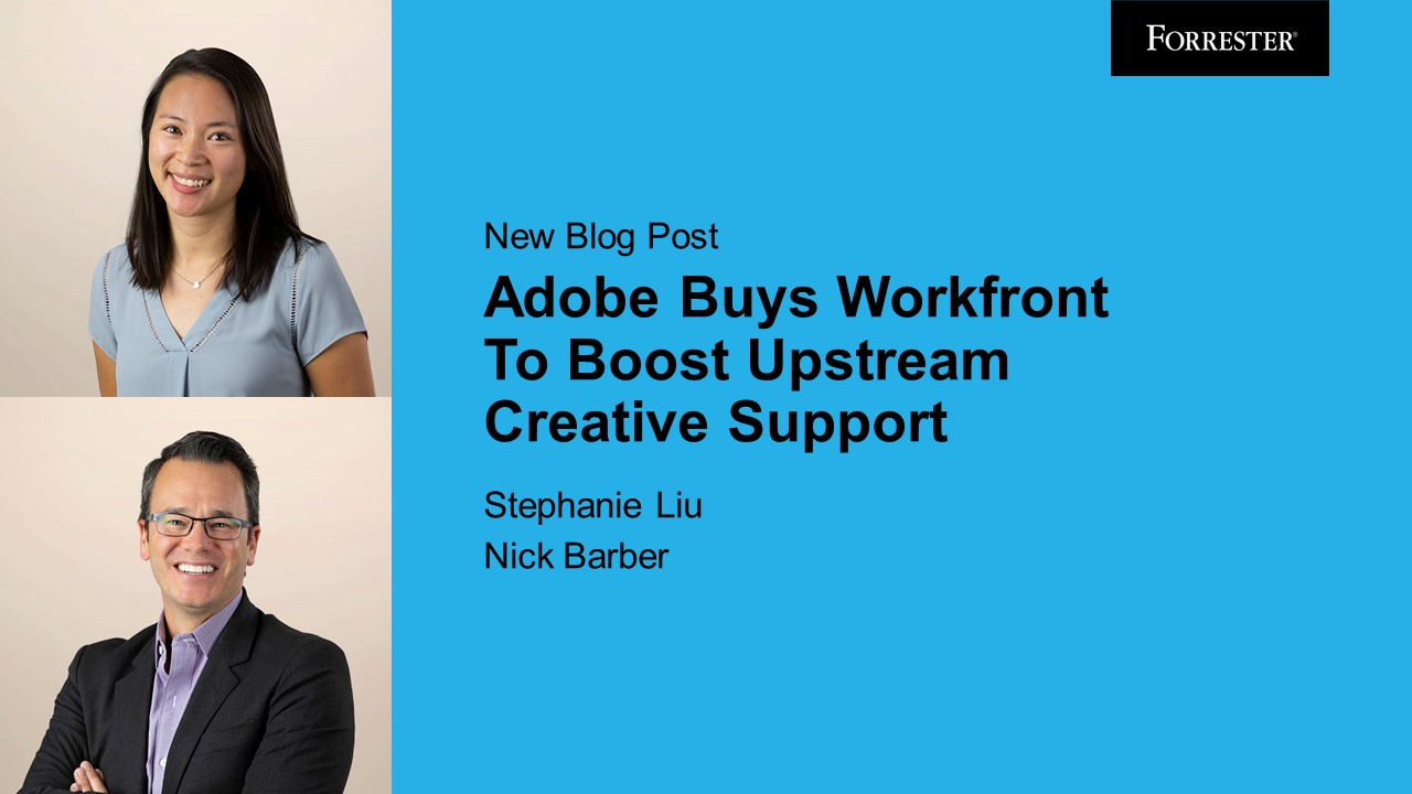 abonde: Adobe Buys Workfront To Boost Upstream Creative Support https://t.co/V0kkYMk1WS via @Forrester > good review of our… https://t.co/0jiS7z9yz6