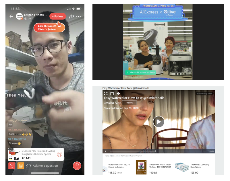 Examples of streaming commerce
