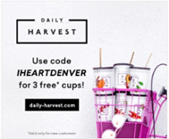 Daily Harvest location-specific ad