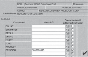 a screenshot of the Flexcube UI from the judge's decision. It includes many fields, unlabeled icons and no help text about what actions to take or avoid.