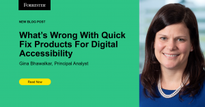 New Blog Post: What's Wrong With Quick Fix Products For Digital Accessibility