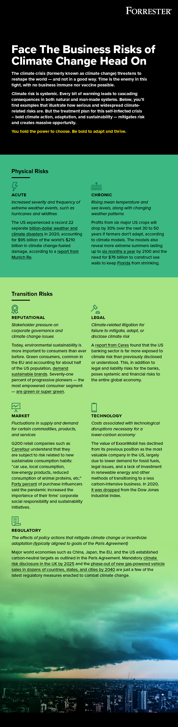 Face the business risks of climate change head on