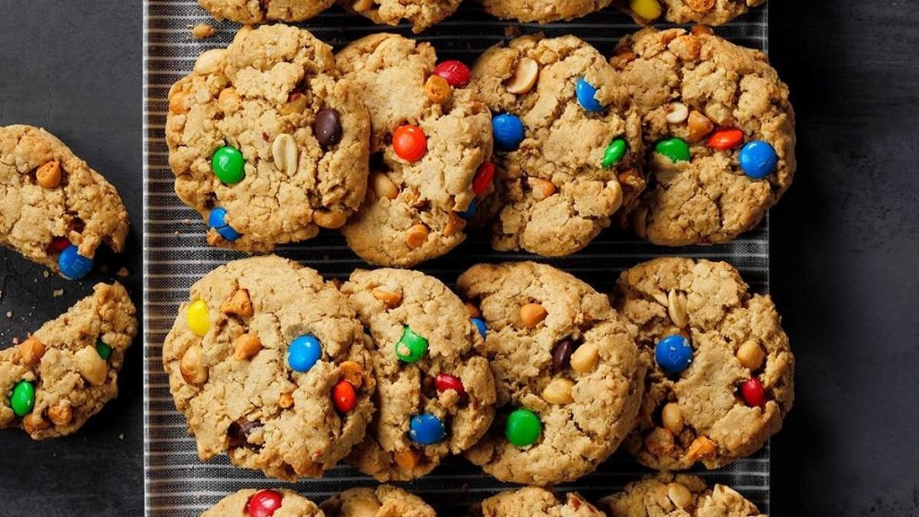 Cookies with colorful candy