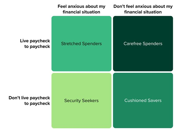 Forrester's Financial Well-Being Segmentation