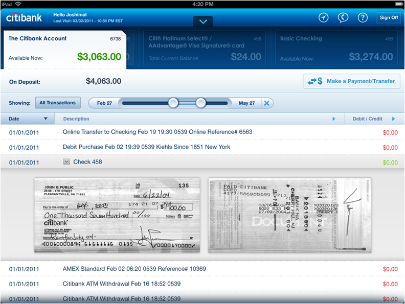 Citibank Moves Boldly Into The Tablet Banking Market