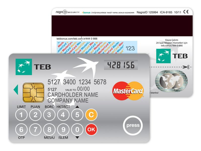 TEB's one-time password generating chip card