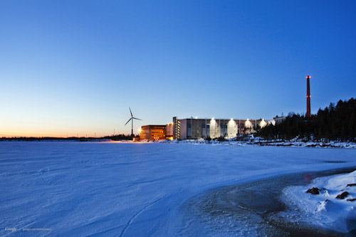 A Google data centre in Finland. Image source: Google.