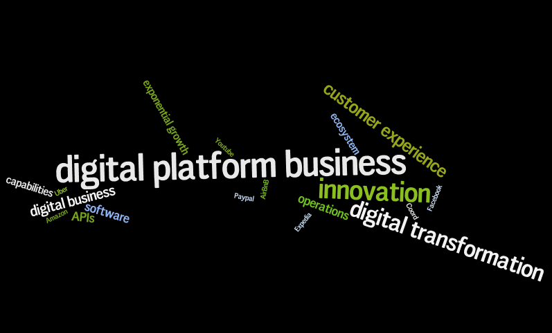 Platform business word cloud